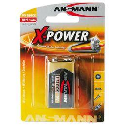 ANSMANN Alkaline Batterie X-Power, 9V E-Block
