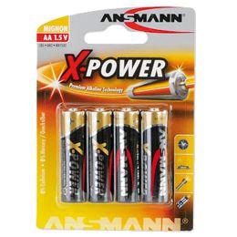 ANSMANN Alkaline Batterie X-Power, Mignon AA, 4er Blister