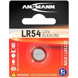 ANSMANN Alkaline Knopfzelle LR54, 1,5 Volt (V10GA)