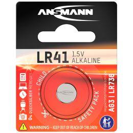 ANSMANN Alkaline Knopfzelle LR41, 1,5 Volt (AG3)