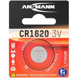 ANSMANN Lithium Knopfzelle CR1620, 3,0 Volt, 1er-Blister
