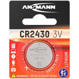 ANSMANN Lithium Knopfzelle CR2430, 3,0 Volt, 1er-Blister