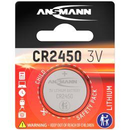 ANSMANN Lithium Knopfzelle CR2450, 3,0 Volt, 1er-Blister