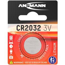 ANSMANN Lithium Knopfzelle CR2032, 3,0 Volt, 1er-Blister