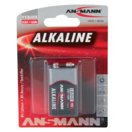 ANSMANN Alkaline RED Batterie, 9V E-Block