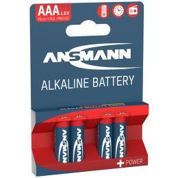 ANSMANN Alkaline Batterie RED, Micro AAA, 4er Blister