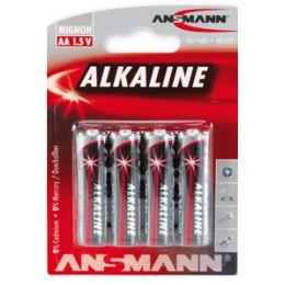 ANSMANN Alkaline Batterie RED, Mignon AA, 4er Blister