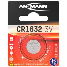 ANSMANN Lithium Knopfzelle CR1632, 3 Volt, 1er Blister