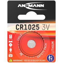 ANSMANN Lithium Knopfzelle CR1025, 3 Volt, 1er Blister