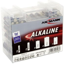 ANSMANN Alkaline RED Batterie Box, 35er Box