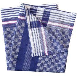 HYGOSTAR Gruben-Handtuch, blau-weiß kariert, 240 g/qm