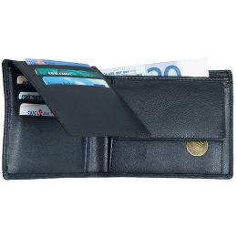 Alassio Geldbörse Klassisch, Leder, schwarz