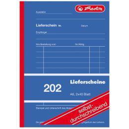 herlitz Formularbuch Lieferschein 202, A6, 2 x 40 Blatt