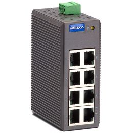 MOXA Unmanaged Industrial Ethernet Switch, 8 Port, EDS-208