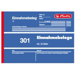 herlitz Formularbuch Einnahmebeleg 301, DIN A6, 50 Blatt