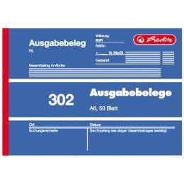 herlitz Formularbuch Ausgabebeleg 302, DIN A6, 50 Blatt