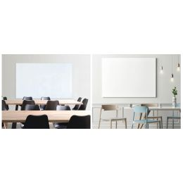 FRANKEN Design-Glastafel, 1.200 x 1.200 mm, reinweiß
