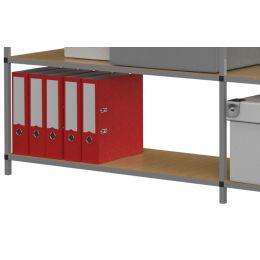 PAPERFLOW Büroregale Tubeco, 6 Böden, Anbauelement, grau