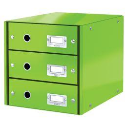 LEITZ Schubladenbox Click & Store WOW, 3 Schübe, grün