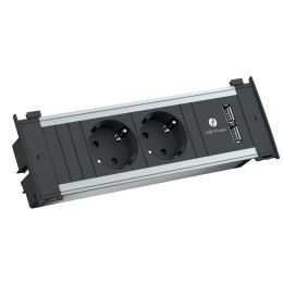 BACHMANN Steckdoseneinheit KAPSA S, 2-fach, T13, 2x USB