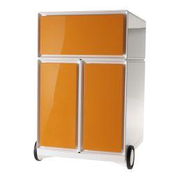 PAPERFLOW Rollcontainer easyBox, 1 Schub, weiß / orange