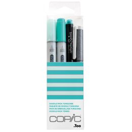 COPIC Marker ciao, 4er Set Doodle Pack Turquoise