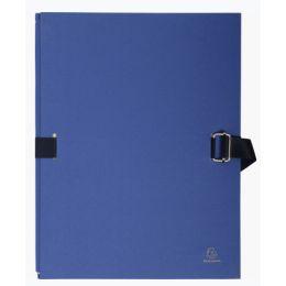 EXACOMPTA Dokumentenmappe, DIN A4, Karton, dunkelblau