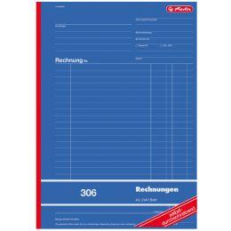 herlitz Formularbuch Rechnung 303, DIN A6, 2 x 40 Blatt