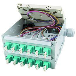 Telegärtner STX-Tragschienen-Verteiler, 12 x SC-Duplex
