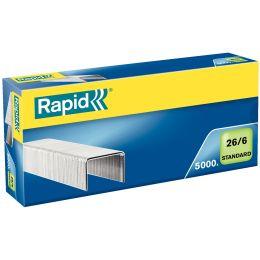 Rapid Heftklammern Standard 26/6, galvanisiert