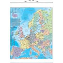 FRANKEN Europakarte, laminiert, 970 x 1.370 mm
