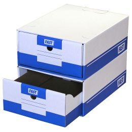 FAST Archiv-Schubladen Tirofast, Farbe: weiß / blau