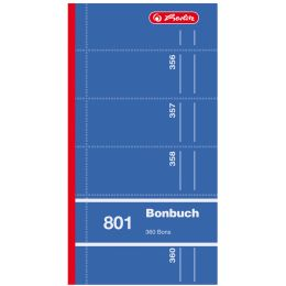 herlitz Formularbuch Bonbuch 801, 90 x 198 mm, sortiert