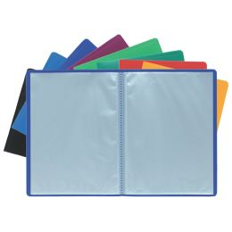 EXACOMPTA Sichtbuch, DIN A4, PP, 20 Hüllen, blau
