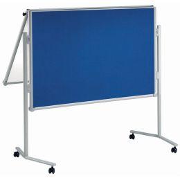 MAUL Moderationstafel professionell, klappbar, blau/Weißwand