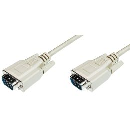 DIGITUS VGA-Monitor-Anschlusskabel, HD 15, beige, 1,8 m