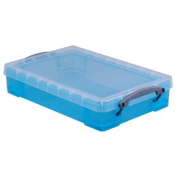 Really Useful Box Aufbewahrungsbox 4 Liter, transparent blau