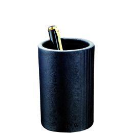 Läufer Stifteköcher LA LINEA, aus Leder, schwarz