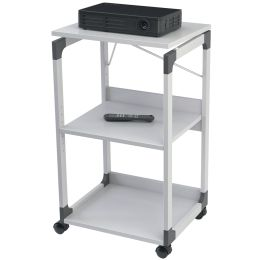 DURABLE Bürowagen SYSTEM für Overhead/Beamer, 3 Böden, grau