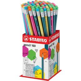 STABILO Bleistift Pencil 160 mit Radierer, 72er Display