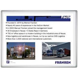 FRANKEN Projektions-/Schreibtafel PRO PLUS, 2.000 x 1.200 mm