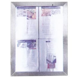 Securit LED-Schaukasten Classic, 4 x DIN A4, silber