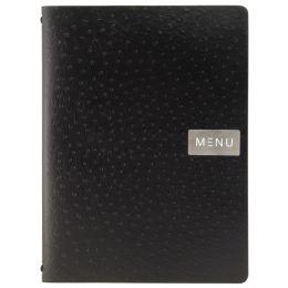 Securit Speisekarten-Mappe EGO, DIN A4, aus Leder, schwarz