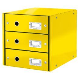 LEITZ Schubladenbox Click & Store WOW, 3 Schübe, gelb