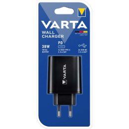 VARTA USB-Adapterstecker Wall Charger, schwarz