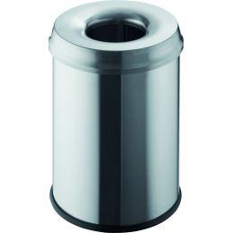 helit Stahl-Papierkorb the guardian, 15 Liter, lichtgrau