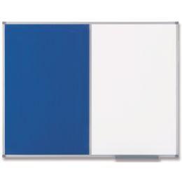 nobo Kombitafel, Weißwand/Filz, Maße: (B)900 x (H)600 mm