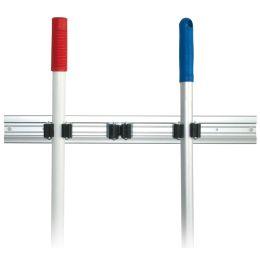 HYGOCLEAN Besenhalter TRIO, Aluminiumschiene für 3 Stiele