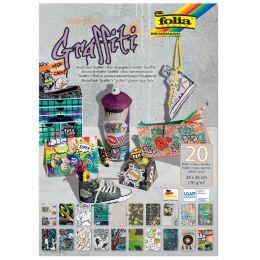 folia Motivblock Graffiti, 240 x 340 mm, 20 Blatt
