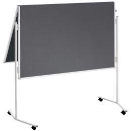 FRANKEN Moderationstafel ECO, 2x 750 x 1.200 mm, Filz, grau
